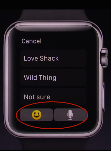 A list with buttons that should always be present. Notice how the list options are still visible because the buttons are translucent